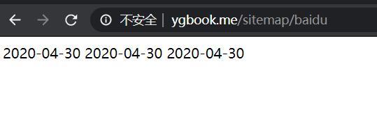 YGBOOK的sitemap格式化输出